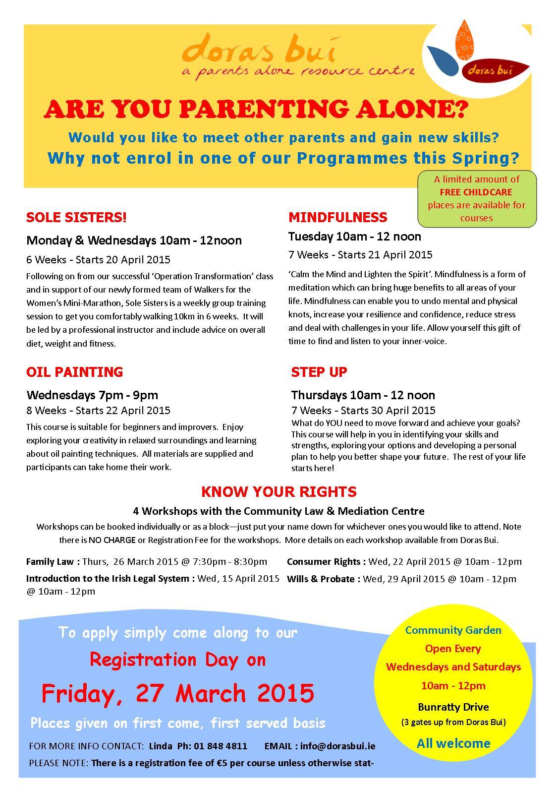 Programmes April to June 2015
