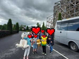 Picture of Doras Buí Service Users at Tayto Park