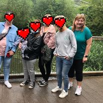 doras bui Staff member and service users at dublin zoo